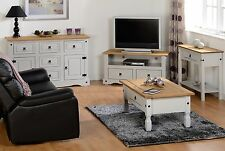 CORONA-GREY DISTRESSED WAXED PINE /COFFEE TABLE/CONSOLE TABLE/TV UNIT/SIDEBOARDS