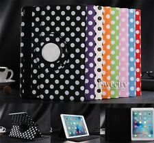 Folio 360 Rotating Polka Dot PU Leather Stand Smart Case Cover For Apple iPad