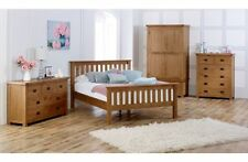 Birlea Malvern Real Oak Bedroom Furniture Range - Wardrobes Chests Bedsides