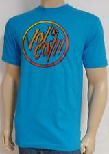 Volcom Stone Burnout Gradient Tee Mens Turquoise Blue Basic Fit T-Shirt New NWT