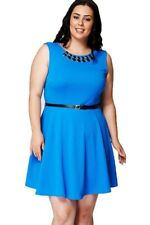 Ladies New Look Plus Size Evening Party Wedding Guest Skater Dresses