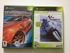 Need for Speed Underground & Moto GP. Microsoft Xbox. PAL. No manuals