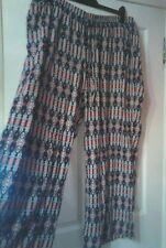 MULTICOLOURED PALAZZO PANTS TROUSERS.SIZE 24 R BY SOUTH.NWOT.GREAT FOR HOLIDAYS