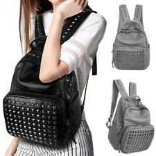 Women Shoulder Bag Backpack Rucksack Girl School PU Leather Travel Purse U8K8