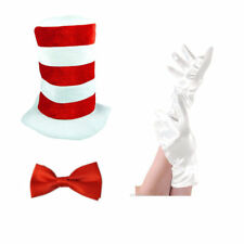 New Kids Cat in the HAT BOW TIE & GLOVES Book Week Dr Seuss Fancy Dress Costume
