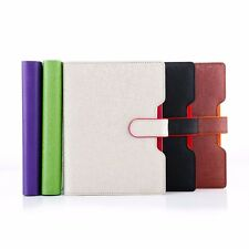 Loose Leaf PU Leather Business Notebook Ruled Diary Journal Note Book Memo #B9