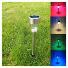 Solar LED Light Outdoor Garden Lawn Spot Lamp Lights Stainless Steel AD