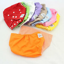 1 X Soft Baby Infant Reusable Nappy Cloth Diapers Cover Washable Size For Summer