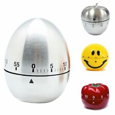 1Hr/60Min Mechanical Timer Game Count Down Counter Alarm Kitchen Cooking Tools