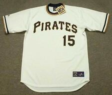 GENE CLINES Pittsburgh Pirates 1971 Majestic Cooperstown Home Baseball Jersey