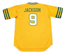 REGGIE JACKSON Oakland Athletics 1973 Majestic Cooperstown Home Baseball Jersey
