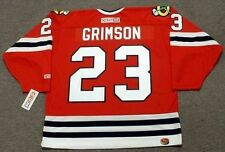 STU GRIMSON Chicago Blackhawks 1991 CCM Throwback Away NHL Hockey Jersey