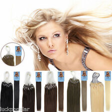 Brazilian Remy Human Hair Extensions Micro Ring Bead Loop Hair 1g/s 18''20''22''
