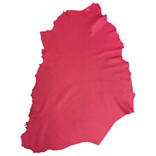 Fuchsia Genuine Lambskin Nappa Leather Animal Hides with Tanned Sheepskin FS902