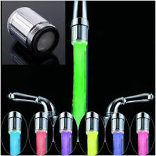 NEW LED Water Faucet Stream Light Changing Glow Shower Stream Tap + Faucet IS