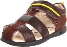 UMI ASHER Boys Cocoa Leather Closed Toe Sandals Shoes 5 - 6 inf F Fit