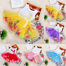 Girls Kids Toddler Baby Flower Petal Princess Skirt Party Tulle Tutu Dresses