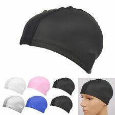 Durable Unisex Adult Swimming Cap Waterproof Swim Long Hair Cap Hat With Ear Cup