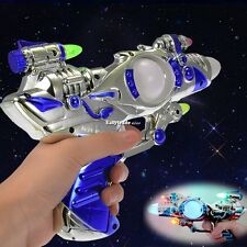 Flashing Light LED Ray Space Gun Pistol  Toy With Sound Effects For Kids