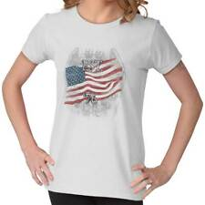 USA T Shirt Flag Bald Eagle Est. 1776 Mens Gift Ideas Graphic Ladies T-Shirt