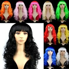 Cosplay Wig Womens Long Curly Wavy Hair Synthetic Anime Cosplay Wig Full Wigs