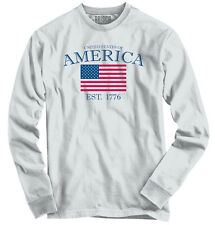 American Pride United States Of America Flag USA T Shirt Gift Long Sleeve Tee