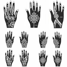 ONE India Henna Temporary Tattoo Stencils For Hand Leg Arm Feet Body Art Decal