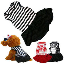 Summer Pet Puppy Clothes Summer Cotton Dress Shirt Small Dog Cat T Shirt Apparel