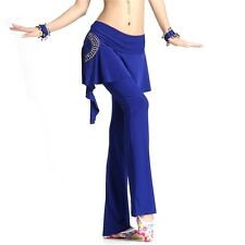 2016 Pure Belly Dance Sequins Skirt Pants Dancing Tribal Crystal Cotton Costume