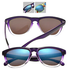 Womens Wayfarer Style Designer Reflective Mirror Sunglasses with FREE CASE