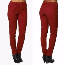 New Ladies Coloured Jeans Elasticated Red Trousers Denim Plus Size Jeggings