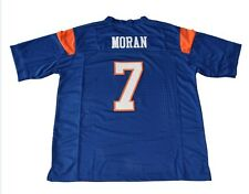 Alex Moran Jersey 7 Blue Mountain State Movie TV Football  Shirt Blue Sewn New
