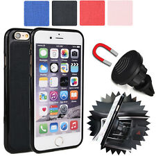 For Apple iPhone 6 6S Magnetic Car Vent Mount & Fitted Case Cover