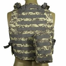 New Tactical Molle Plate Carrier Combat Vest w/ Magazine Pouch Military Hunting