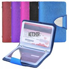 Leather Pocket Business Credit ID Card Holder Case Wallet 26 Card Slots KECP