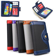Unisex Protective Smart Phone Wallet Case w/ Built In Screen Protector SMENBA-9