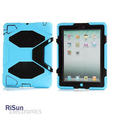 Screen Protector &Heavy Duty Shock Proof full Protect Sky Blue case for iPad 234