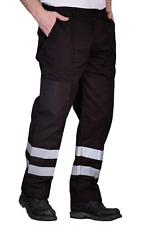 Yoko Hi Vis Enhanced Visibility Ballistic Work Wear Trouser Pants Black or Navy