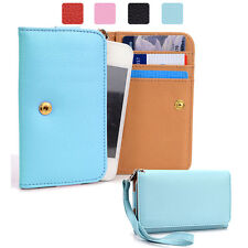 Small Simple Protective Wallet Case Clutch Cover for Smart-Phones ESAMWL-7