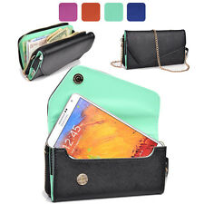 KroO Fad PU Leather Protective Wallet Case Clutch Cover for Smart-Phones XLUB6