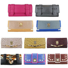 Women Purse Evening Leather Fashion Zip Clutch Handbag Wallet Bag GIFT BOXED