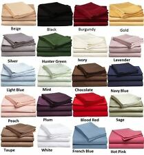 1000-TC 5-PC Soft Split Sheet Set Solid 100% Cotton Cal King All Desired Color