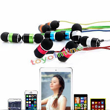Hot Metal 3.5mm Stereo Earphone in-ear Headphone with Mic Braided Cable 5 COLOR