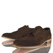MENS GENTS SUEDE LEATHER SOLE BROGUE LACE UP CASUAL SMART OFFICE VINTAGE SHOES