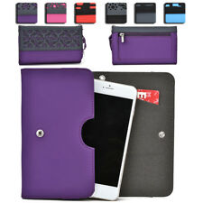 Womens Protective Wallet Case Cover for Smart Cell Phones by KroO ESDC-16 MD