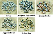 40pcs NEW FINISH Glittery Rainbow Rustic Etched Czech Glass Round Faceted Beads