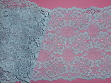 """*The Place For Lace*  3 METRES Pretty Pale Blue Wide Cluny Lace Trim 5""""/13cm"""