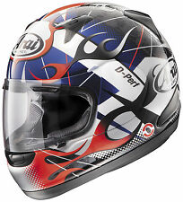 Arai Adult Red/Blue/Black/White RX-Q Flame Full Face Motorcycle Helmet