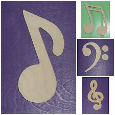 """Wooden Shapes 20"""" Size Unpainted Wood Music Notes Musical Symbols Wall Decor"""