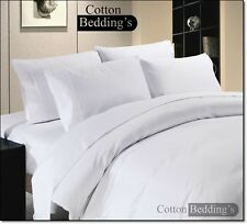 UK Size Hotel Bedding's 1500 1200 1000 TC 100% Egyptian Cotton - White in Solid